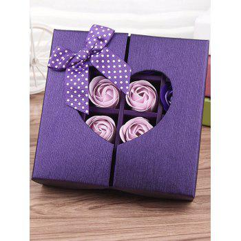 1 Box 16 Grids Artificial Soap Rose Mother's Day Gift -  VIOLET