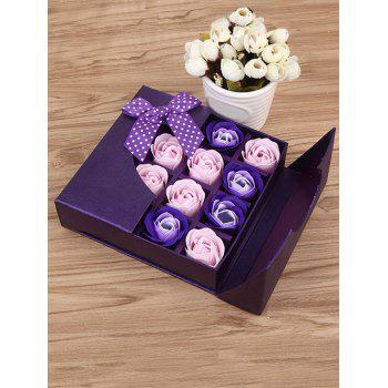 1 Box 16 Grids Artificial Soap Rose Mother's Day Gift - VIOLET VIOLET