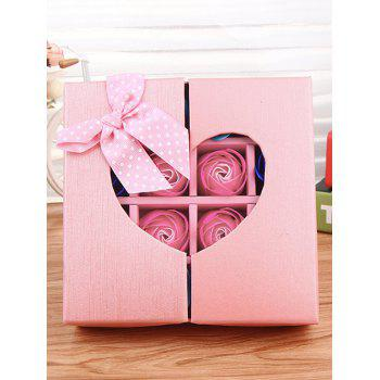 1 Box 16 Grids Artificial Soap Rose Mother's Day Gift -  PINK