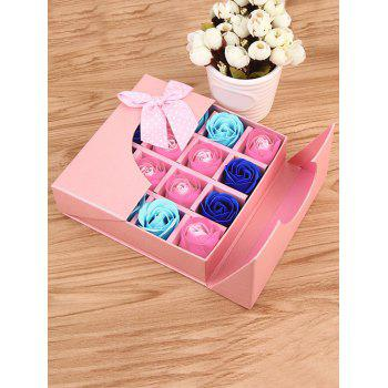 1 Box 16 Grids Artificial Soap Rose Mother's Day Gift - PINK PINK