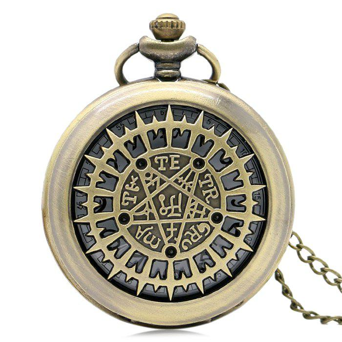 Magic Star Vintage Pocket Watch - GOLDEN