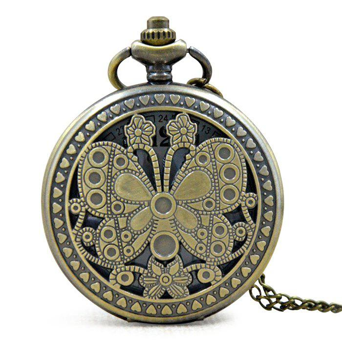 Papillon Gravé Vintage Pocket Watch - Or