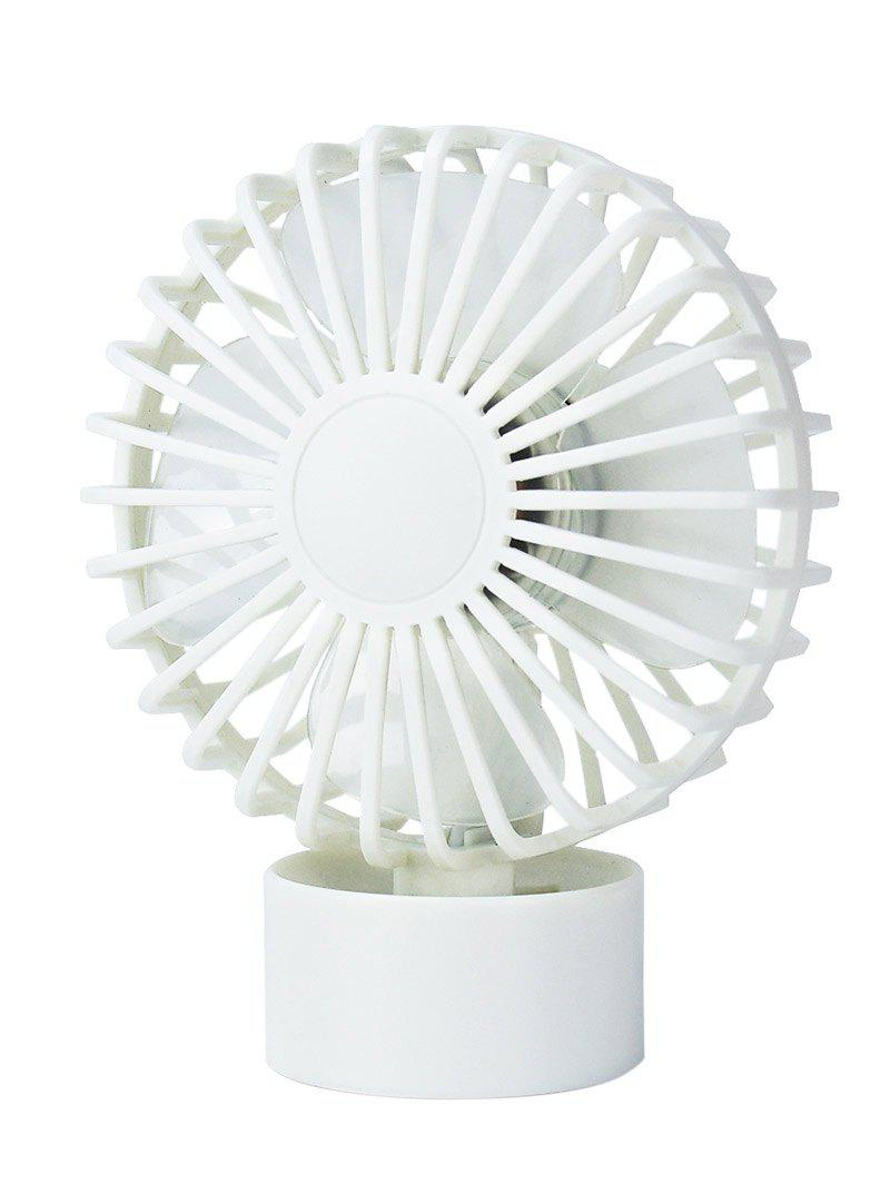 Summer Cooler USB Mute Mini Desk Fan - WHITE