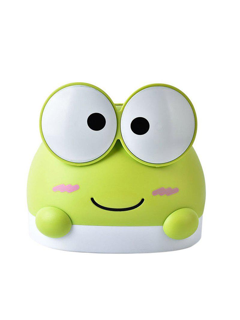 Cartoon Frog Tissue Box - GREEN