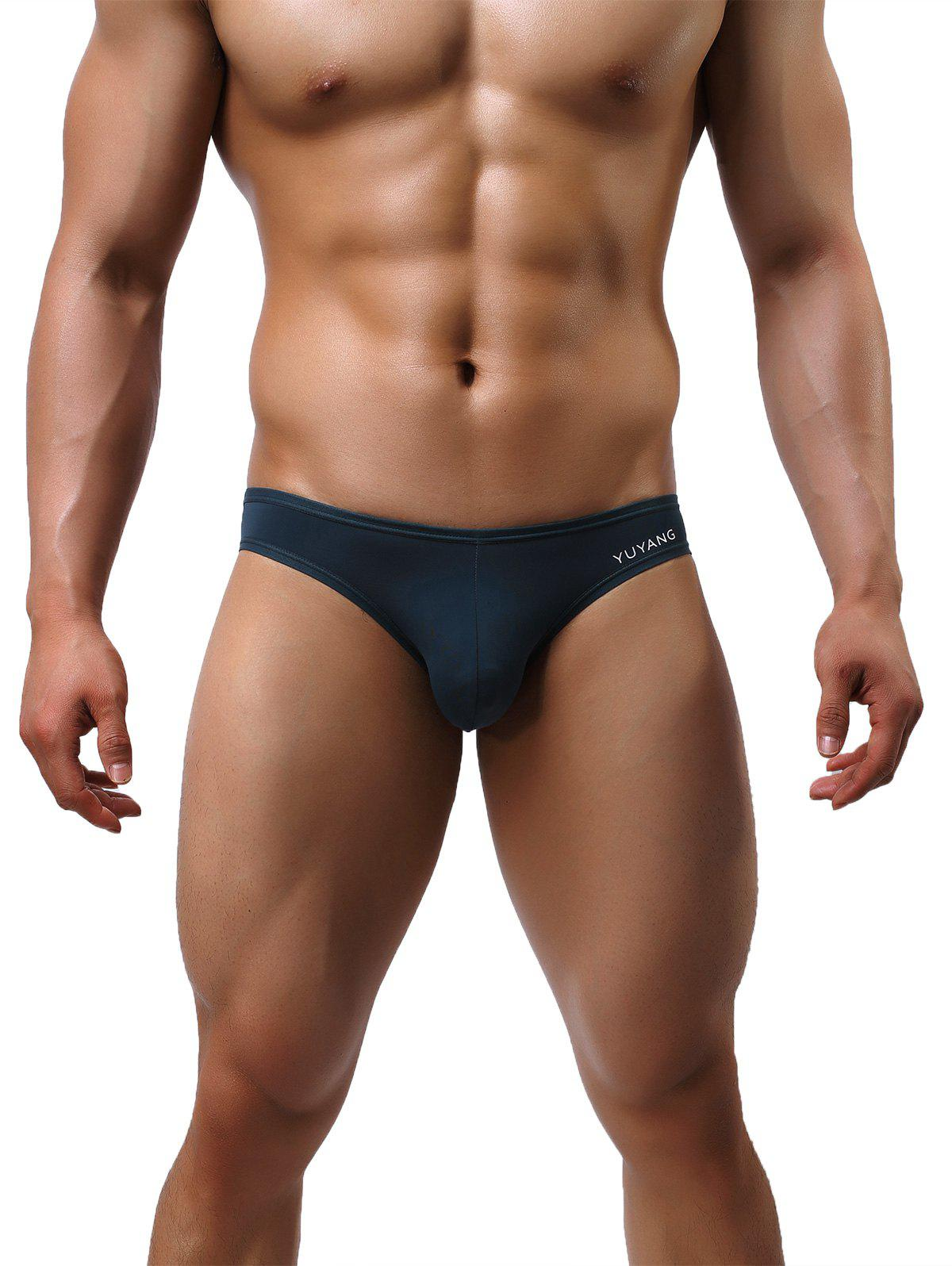 U Contour Pouch Low Rise Briefs - BLACKISH GREEN L