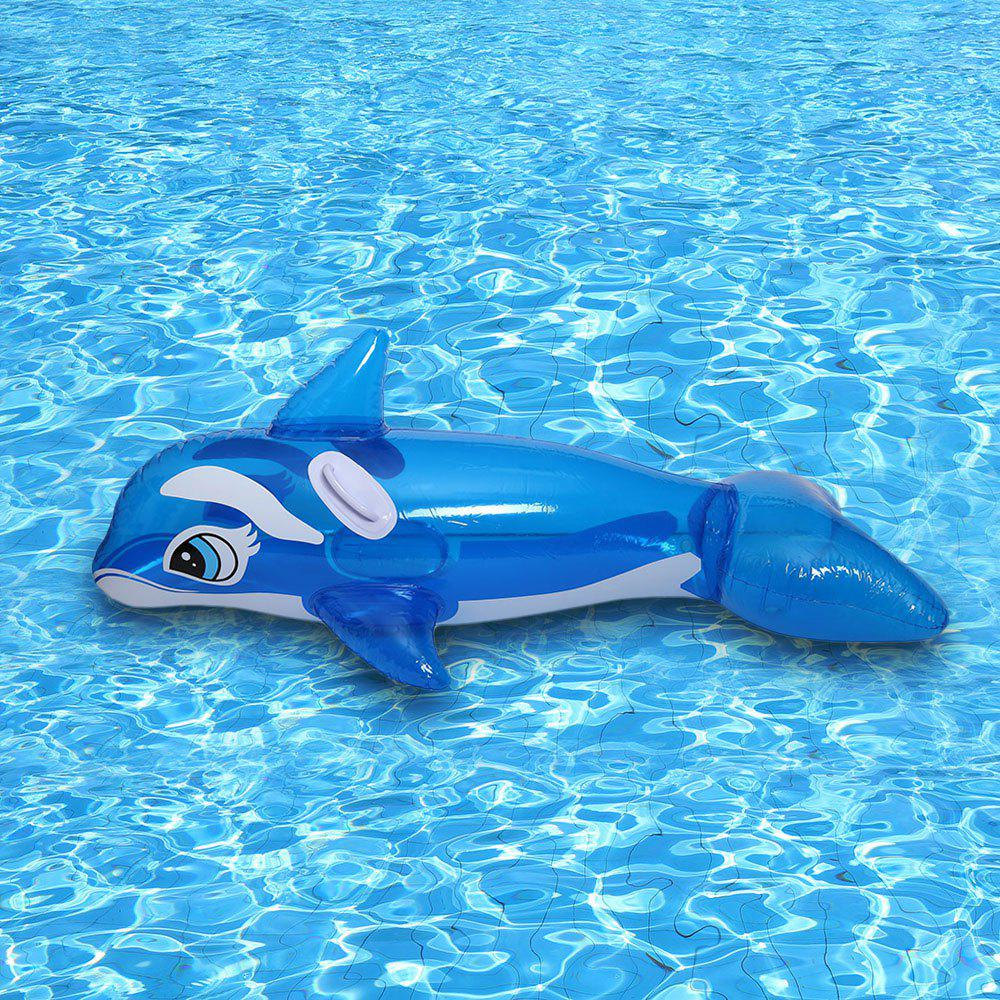 Inflatable Whale with Handle - BLUE