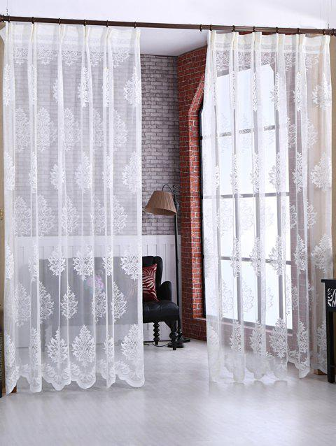 Door Window Balcony Screen Sheer Voile Tulle Curtain - WHITE W54INCH*L95INCH