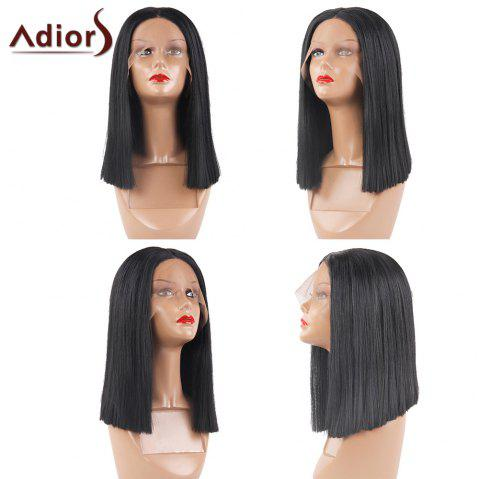 2b5285659 Adior 180 Density Lace Front Center Parting Straight Bob Synthetic Wig -  BLACK 02 16INCH