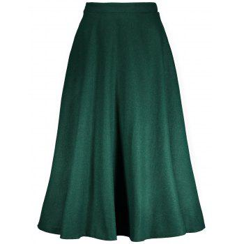 High Waisted Woolen Maxi Full Skirt