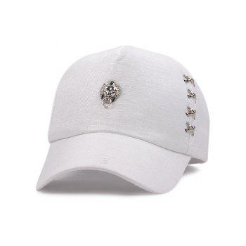 Alloy Circle Lion Head Baseball Hat