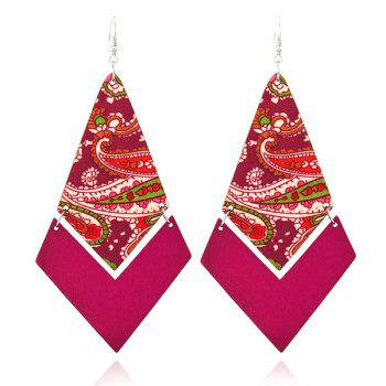 Geometric Wooden Ethnic Earrings