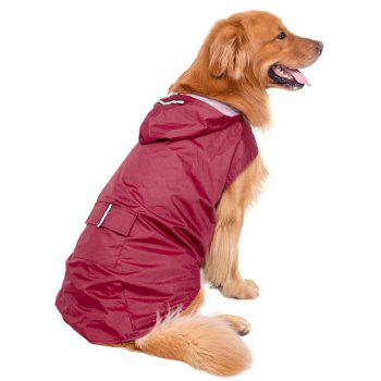 Hooded Raincoat Waterproof Large Dog Clothes - 3XL 3XL