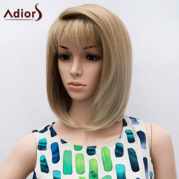 Short Straight Side Part Neat Bang Colormix Bob Synthetic Wig