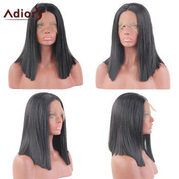Adiors Medium Centre Part Straight Bob Lace Front Synthetic Wig