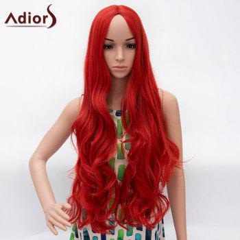Ultra Long Big Wave Centre Part Fluffy Synthetic Wig