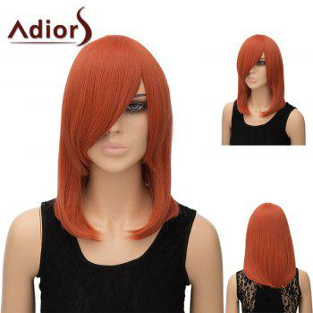 Adiors Medium Straight Side Bang Tail Adduction Anime Wig