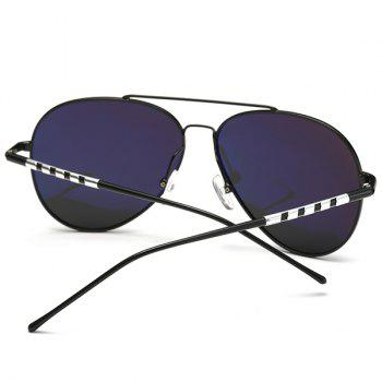 UV Protection Mirror Polarized Sunglasses - BLACK/GREY