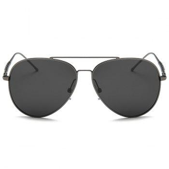 UV Protection Mirror Polarized Sunglasses -  GUN GREY FRAME/GREY LENS