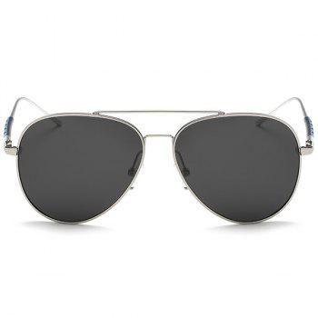 UV Protection Mirror Polarized Sunglasses - SILVER FRAME / GREY LENS