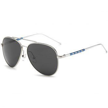 UV Protection Mirror Polarized Sunglasses - SILVER FRAME + GREY LENS SILVER FRAME / GREY LENS