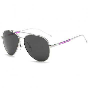 UV Protection Mirror Polarized Sunglasses - SILVER FRAME+GREY LENS SILVER FRAME/GREY LENS