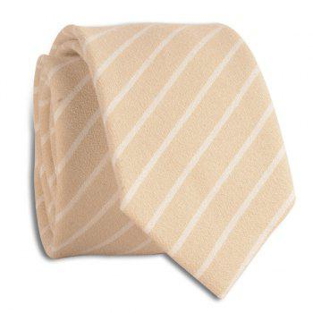Pinstripe Diagonal Lines Tie - CANDY BEIGE CANDY BEIGE
