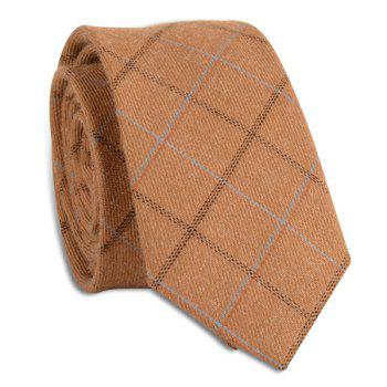 Wrinkle Resistant Large Plaid Neck Tie