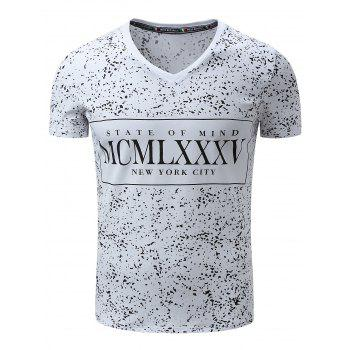 Splatter Paint Graphic Print Short Sleeve T-Shirt