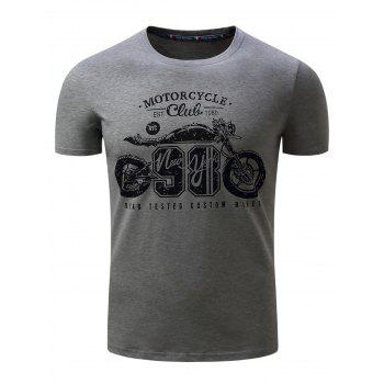 Motorcycle Graphic Print Short Sleeve T-Shirt