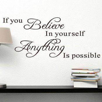 Believe Yourself Quote Wall Sticker