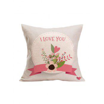 I Love You Flower Pillowcase