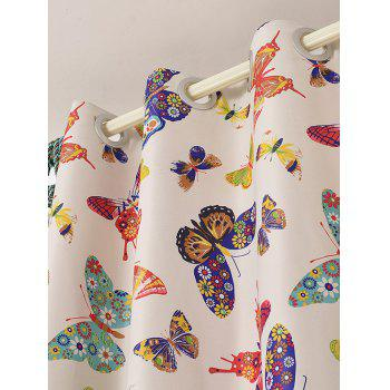 Window Screens Butterfly Print Blackout Curtain(Without Tulle) - COLORMIX COLORMIX