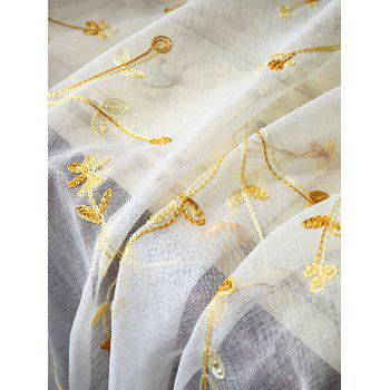 Babysbreath Flower Sheer Tulle Curtain - WHITE W42INCH*L63INCH