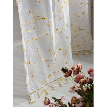 Babysbreath Flower Sheer Tulle Curtain - WHITE W54INCH*L84INCH
