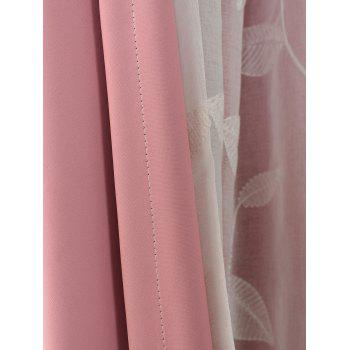 Princess Double Layers Shading Window Curtain - PINK W54INCH*L108INCH