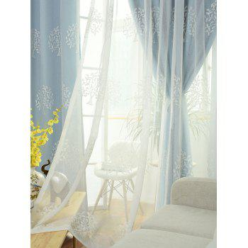 Princess Style 1Pcs 2 Layers Window Curtain - ICE BLUE W42INCH*L84INCH