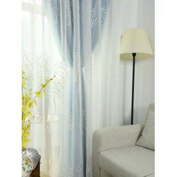 Princess Style 1Pcs 2 Layers Window Curtain - ICE BLUE W54INCH*L95INCH