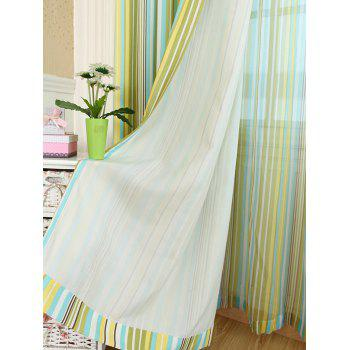 Window Decor Stripe Blackout Curtain(Without Tulle) - YELLOW W54INCH*L95INCH