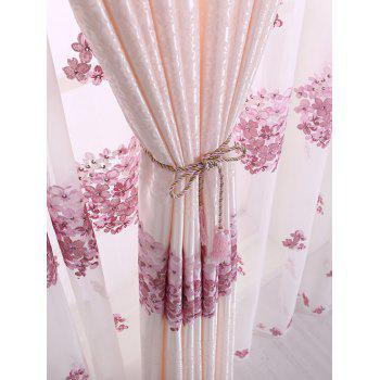 1PCS Hydrangea Print Blackout Curtain Window Screen(Without Tulle) - PINK W54INCH*L84INCH