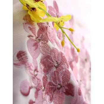 1PCS Hydrangea Print Blackout Curtain Window Screen(Without Tulle) - PINK W54INCH*L95INCH