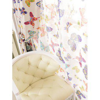 Butterfly Sheer Tulle Curtain Door Window Screen - COLORMIX COLORMIX