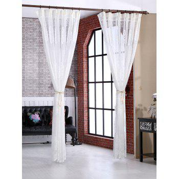 Door Window Balcony Screen Sheer Voile Tulle Curtain - W42INCH*L63INCH W42INCH*L63INCH