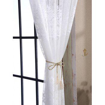 Door Window Balcony Screen Sheer Voile Tulle Curtain - WHITE W42INCH*L63INCH