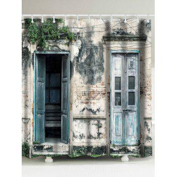 Waterproof Vintage House Door Shower Curtain