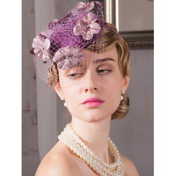Floral Loose Mesh Banquet Hairpin Cocktail Hat