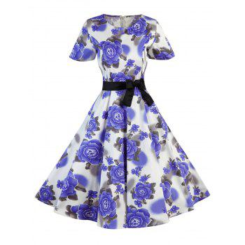 Polka Dot Floral Vintage Dress