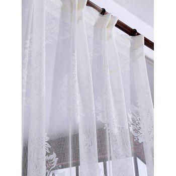 Door Window Balcony Screen Sheer Voile Tulle Curtain - WHITE W42INCH*L95INCH