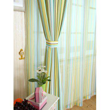 Window Decor Stripe Blackout Curtain ( Without Tulle ) - YELLOW W54INCH*L108INCH
