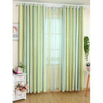 Window Decor Stripe Blackout Curtain ( Without Tulle ) - YELLOW W54INCH*L95INCH