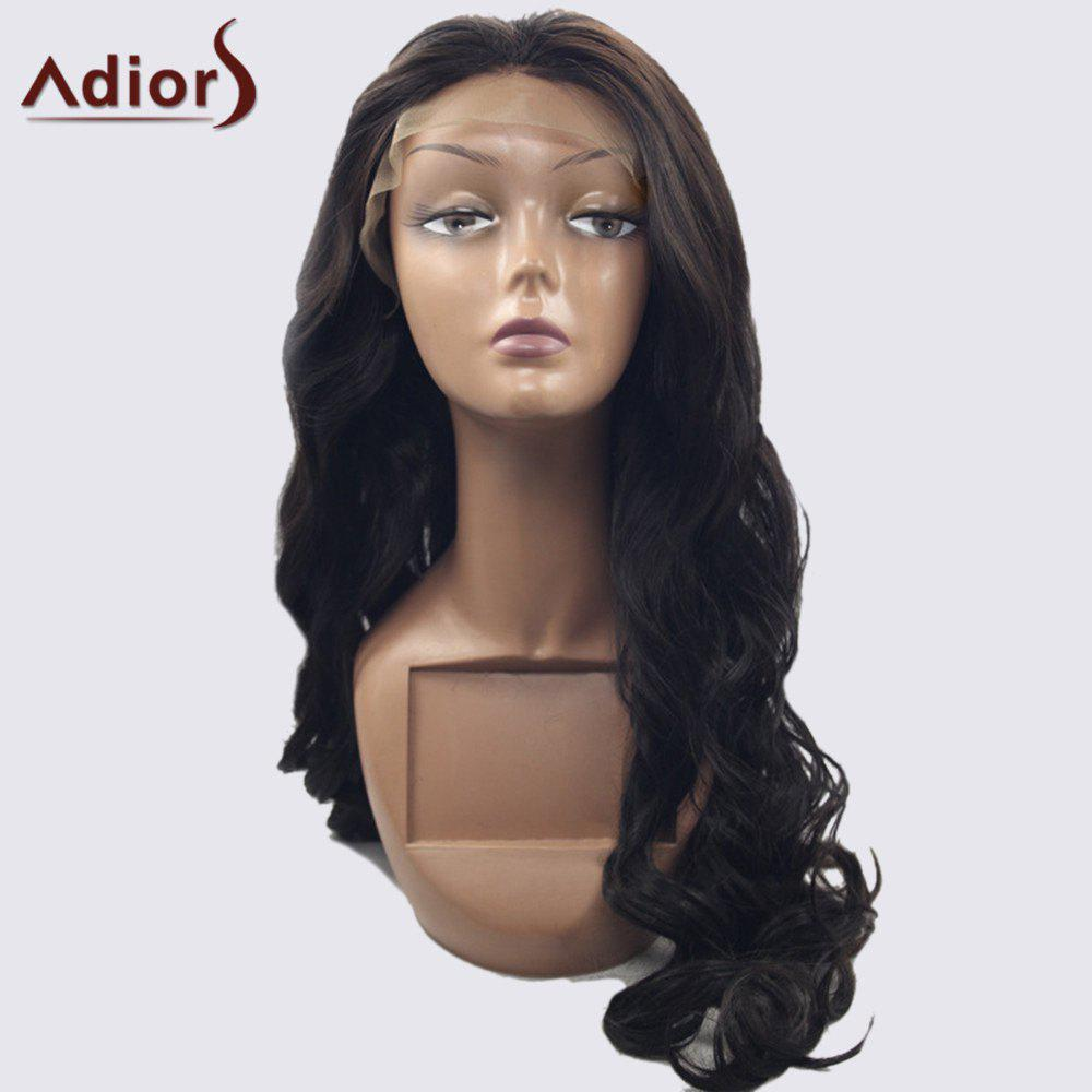 Adior 180 Density Centre Part Long Body Wave Lace Front Synthetic Wig celebrity top fashion long body wave style fiery red synthetic lace front long red wig